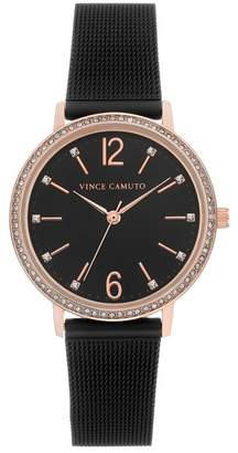 Vince Camuto Women's Black Mesh Bracelet Watch, 34mm