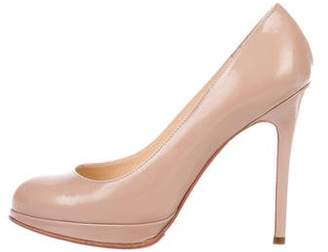 Christian Louboutin Nude Simples Round-Toe Pumps