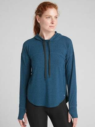 Gap GapFit Pullover Hoodie in Brushed Tech Jersey