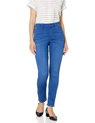 Fly London Laurie Felt Women's Plus Size Silky Denim Royal Ankle Skinny Jeans with Zip