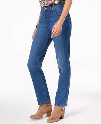 Style&Co. Style & Co Tummy-Control High Rise Straight-Leg Jeans