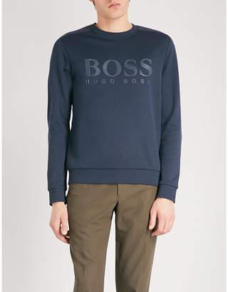 BOSS GREEN Logo-print jersey sweatshirt