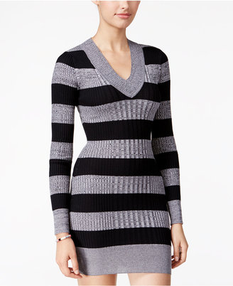 Planet Gold Juniors' Striped Sweater Dress $39 thestylecure.com