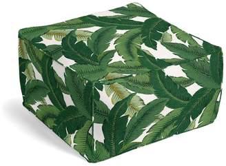 Loom Decor Square Pouf Be Leaf It - Palm
