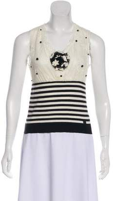 Chanel Lace Camellia Top