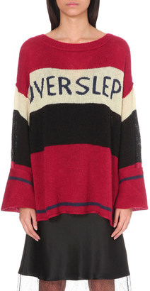 WILDFOX Overslept knitted jumper $205 thestylecure.com
