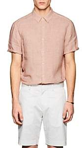 Theory Men's Irving Slub Linen Shirt - Rose