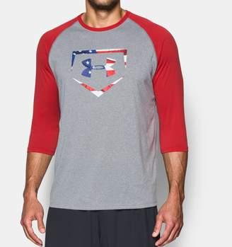 Under Armour Men's UA Plate Logo Sleeve T-Shirt