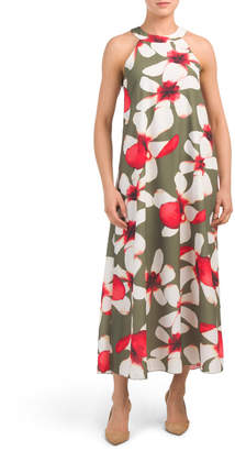 e3785708260d Made In Italy Orchid Print Halter Maxi Dress