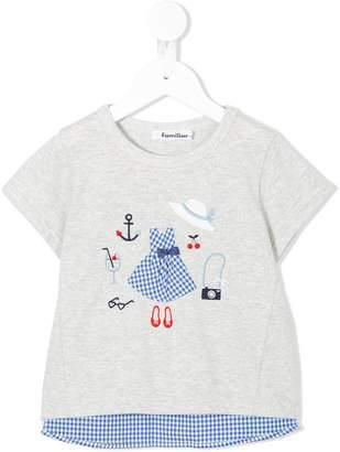 Familiar checked T-shirt