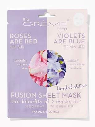 Old Navy The Crème Shop® Roses Are Red/Violets Are Blue Fusion Sheet Mask