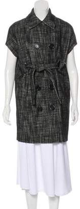 Michael Kors Virgin Wool Short Sleeve Coat