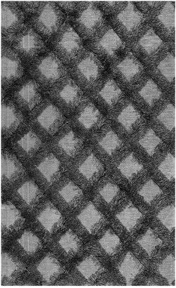 nuLoom Francene Diamond Trellis Shaggy Machine-Made Synthetic Contemporary Rug