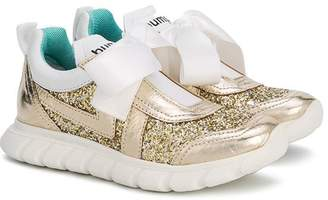 Bumper glitter lace-up sneakers