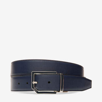 Bally Charlton 35Mm Blue, Men's leather adjustable/reversible belt in ink