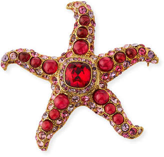Kenneth Jay Lane Crystal Starfish Pin