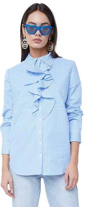 Juicy Couture Striped Ruffle Top