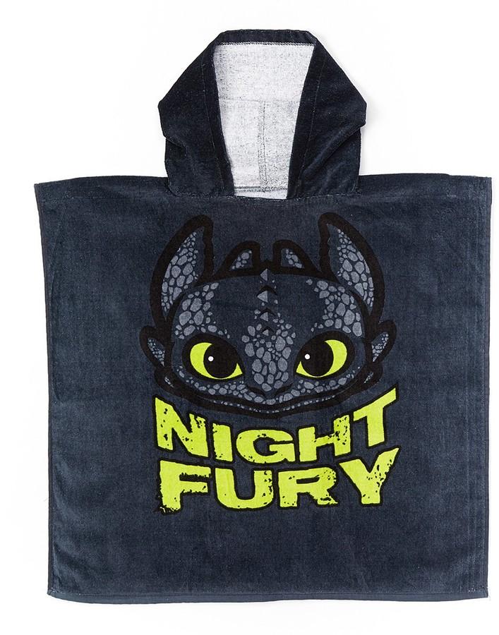 How to Train Your Dragon Night Fury Terry Hooded Poncho - Boys