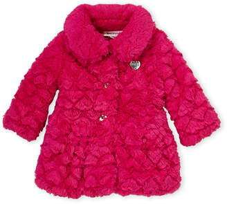 Juicy Couture Infant Girls) Hot Pink Faux Fur Jacket
