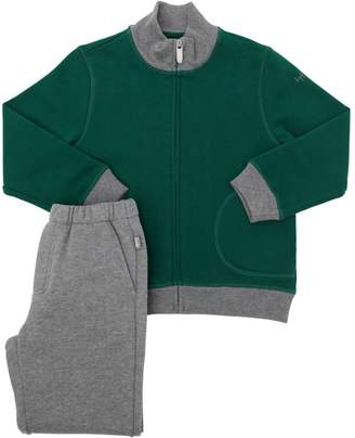Il Gufo Cotton Zip-Up Sweatshirt & Sweatpants