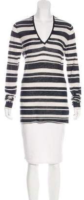 Enza Costa Striped Cashmere Top