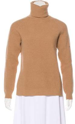 No.21 No. 21 Lace-Trimmed Wool Knit Sweater