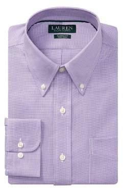Lauren Ralph Lauren Classic-Fit Printed Cotton Dress Shirt