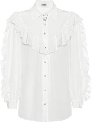 Miu Miu Embellished silk shirt