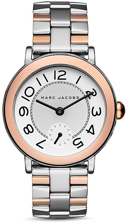 Marc Jacobs MARC JACOBS Riley Two-Tone Watch, 36mm