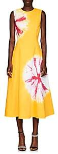 Calvin Klein Women's Tie-Dyed Denim Midi-Dress-Yellow