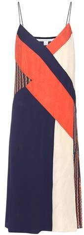 Diane von Furstenberg Frederica patchwork silk dress