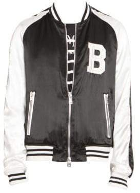 Balmain Embroidered Logo Bomber Jacket