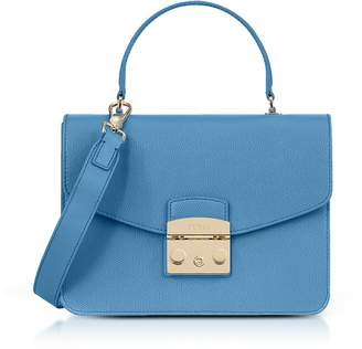 Furla Veronica Lizard Printed Leather Metropolis Small Top-handle Shoulder Bag
