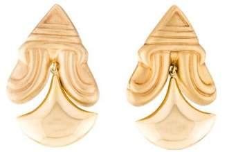 14K Ornate Dangle Drop Earrings