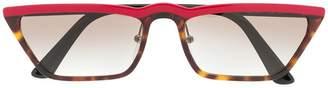 Prada rectangular cat eye sunglasses
