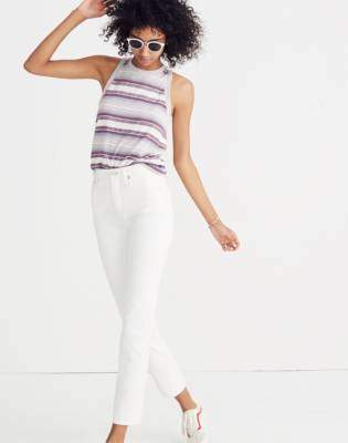 Madewell Classic Straight Jeans in Tile White