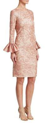 Metallic Bell-Cuff Dress