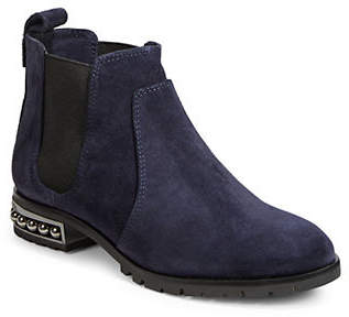 Karl Lagerfeld PARIS Womens Pearl Heel Ankle Booties