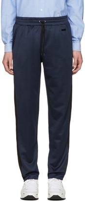 AMI Alexandre Mattiussi Navy Jersey Track Pants $210 thestylecure.com