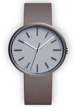 Uniform Wares M-Line Rubber Strap Watch, 36mm