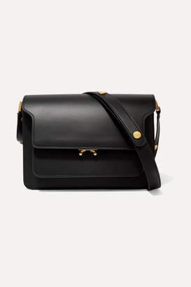 Marni Trunk Medium Leather Shoulder Bag - Black