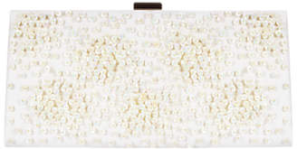 Adrianna Papell Sequin Frame Clutch Bag, Champagne