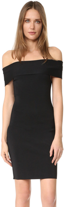 T by Alexander Wang Rib Knit Off Shoulder Dress $425 thestylecure.com