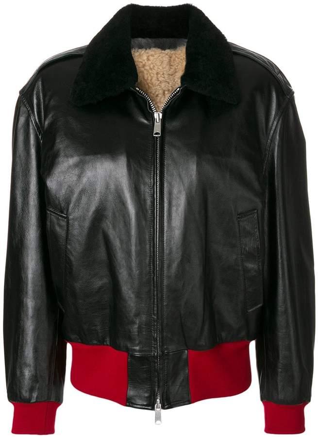 Calvin Klein 205W39nyc zipped bomber jacket
