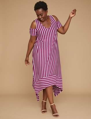 Cold-Shoulder Knit Maxi Dress