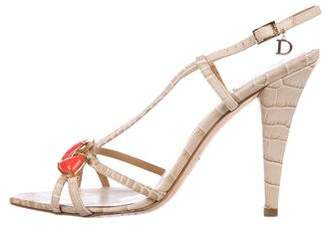 Christian Dior Embossed Slingback Sandals