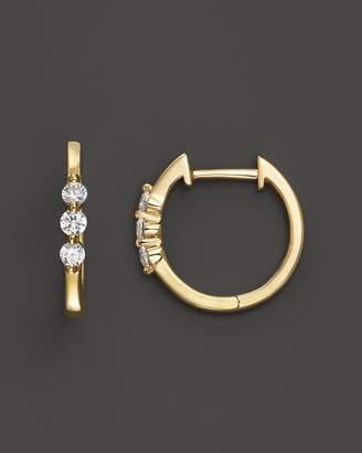 Bloomingdale's Diamond 3 Stone Huggie Hoop Earrings in 14K Yellow Gold, .24 ct. t.w. - 100% Exclusive
