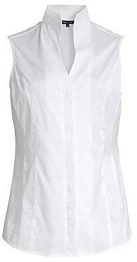 Misook Women's Stretch Cotton Sleeveless Blouse