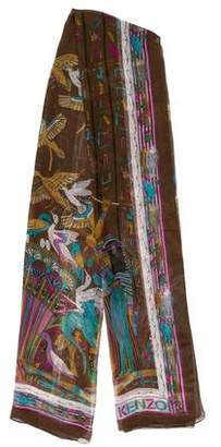 Kenzo Silk Printed Scarf