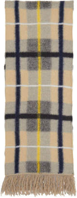 Stella McCartney Beige Checked Scarf